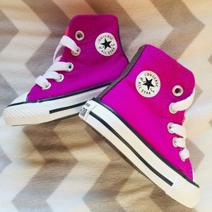Infant Pink & Purple Converse Sneakers Size 2